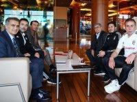 Şenol Güneş Beşiktaş kampını ziyaret etti