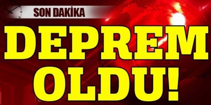 Marmara Denizi'nde deprem! Merkez üssü ve şiddeti açıklandı!
