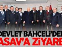 MHP Lideri Devlet Bahçeli'den TASAV'a ziyaret