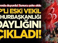 MHP'li eski vekil cumhurbaşkanlığı adaylığını açıkladı! Canlı yayında sunucu şaştı kaldı