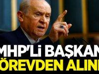 MHP'li Başkanın Görevden Alındığını açıkladı