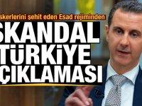 Türk askerlerini şehit eden Esad'tan ilk açıklama! Skandal Türkiye çıkışı
