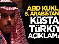ABD kuklası Suudi Arabistan küstah Türkiye açıklaması