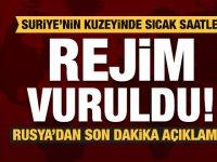 Türkiye Suriye'de rejim güçleri vurdu! Rusya'dan son dakika açıklaması