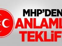 MHP'den bir anlamlı teklif daha!