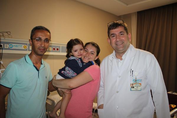 2,5 Yaşındaki Nil'e Böbrek Taşı Operasyonu