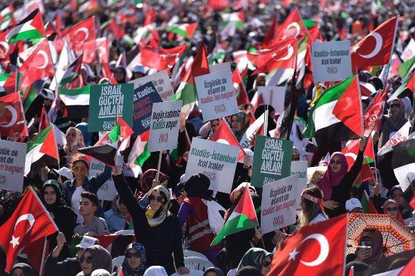 Saadet Partisi'nden Yenikapı'da Büyük Kudüs Mitingi