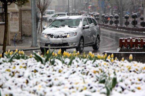 Bolu'ya Nisan'da Kar Yağdı
