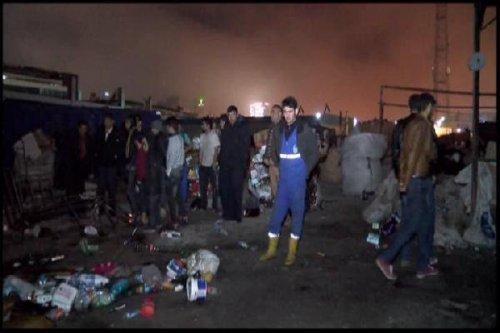Esenyurt'ta Hurdalık Alev Alev Yandı