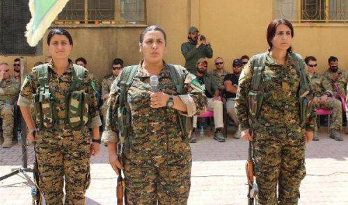 İşte Dotumuz: ABD'li Askerler YPG'lilerin Yemin Törenine Katıldı