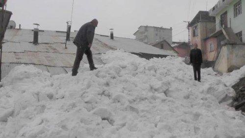 Muş'a Bahar Geldi Ama Kar Çilesi Bitmedi