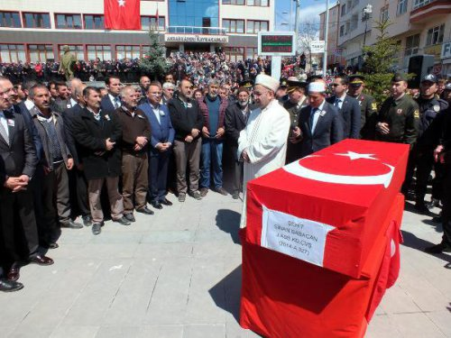 Şehit Astsubay Sinan Babacan Son Yolculuğuna Uğurlandı